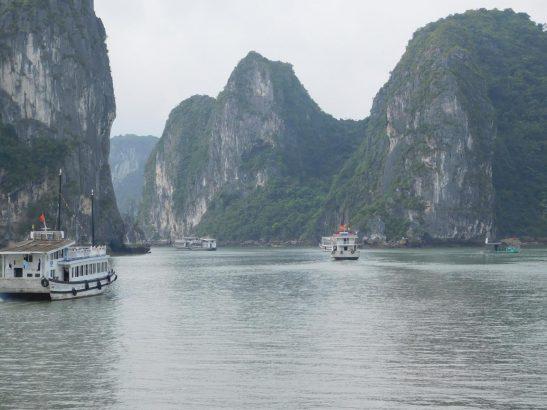 Weltkulturerbe Halongbucht in Vietnam